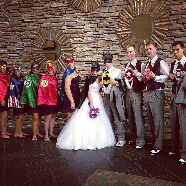 Action Heroes, Ninjas Make Gamer's Dream Wedding Come True
