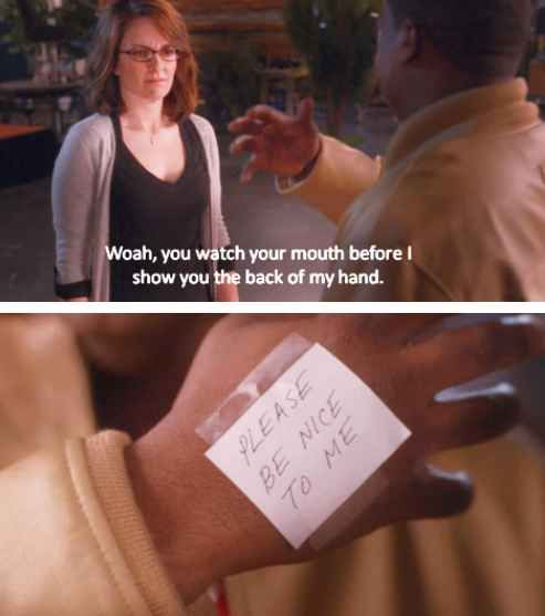 When Tracy cleverly fooled Liz Lemon.