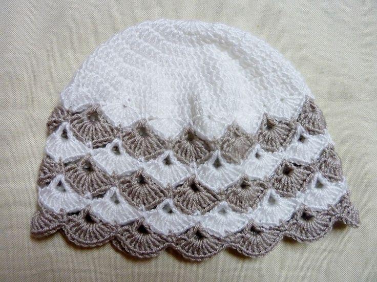 Materiál :na čiapku - 50 g ( 1 klbko ) priadze ELIAN NICKY alebo 50 g ( pol klbka ) priadze SERIN Veľkosť: obvod hlavy - 42-44 cm Háčik: č. 3,