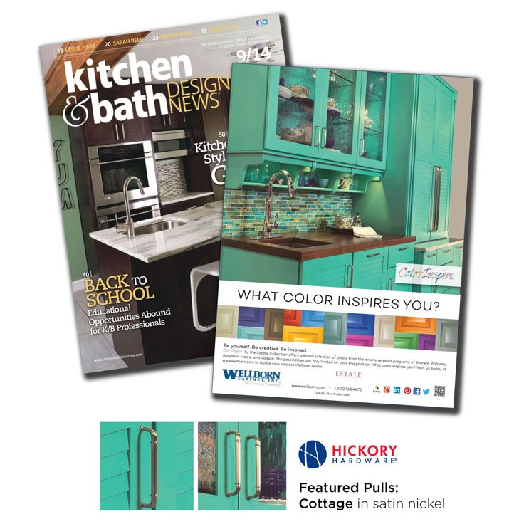 Ad features the Hickory Hardware Cottage pulls in the Kitchen   Bath Design  News magazine 11 best As Seen In   Hickory Hardware images on Pinterest  . Kitchen And Bath Design Magazine. Home Design Ideas