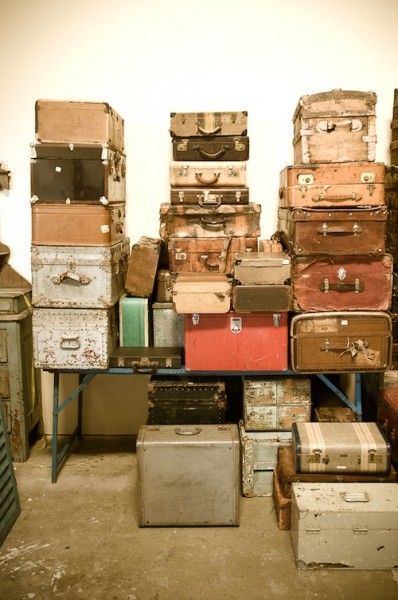 love old suitcases....