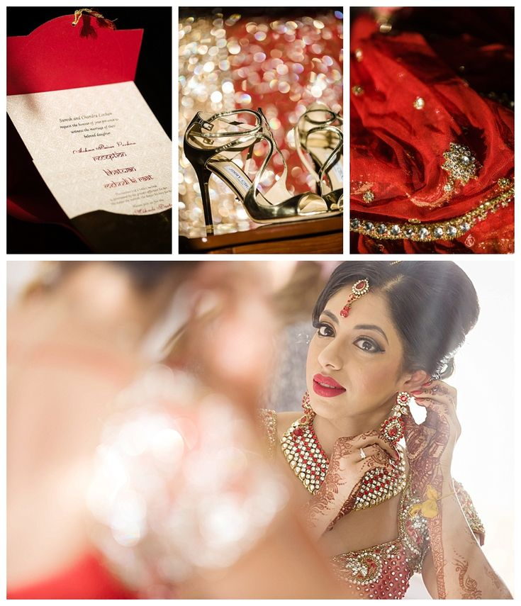 Beautiful Indian bride. Make-up and hair by Fareha Bridal Studio #indianwedding #wedding #sydney #weddingphotography #red #bride #love