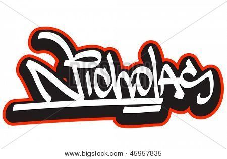 the name Nicholas images | Nicholas graffiti font style ...