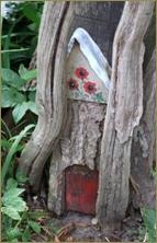 Furzey Gardens. Fairy door. Set in the heart of The New forest in Hampshire. England