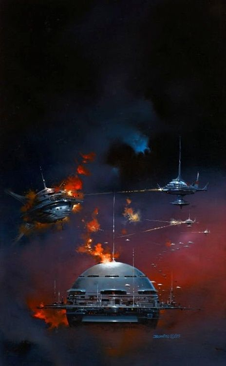 Boris Vallejo - Privateers, 1986. The Science Fiction Gallery