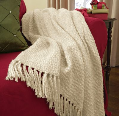 Fringe Plush Throw Blanket - Chocolate, Sage, Cream ...