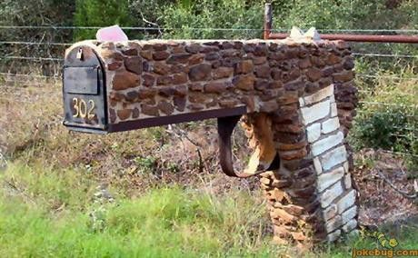 I wonder? Would this fall under politcally incorrect? If so, I want one. Funny+Redneck+Jokes | Funny Picture - Redneck Jokes funny pictures - Texas Mailbox