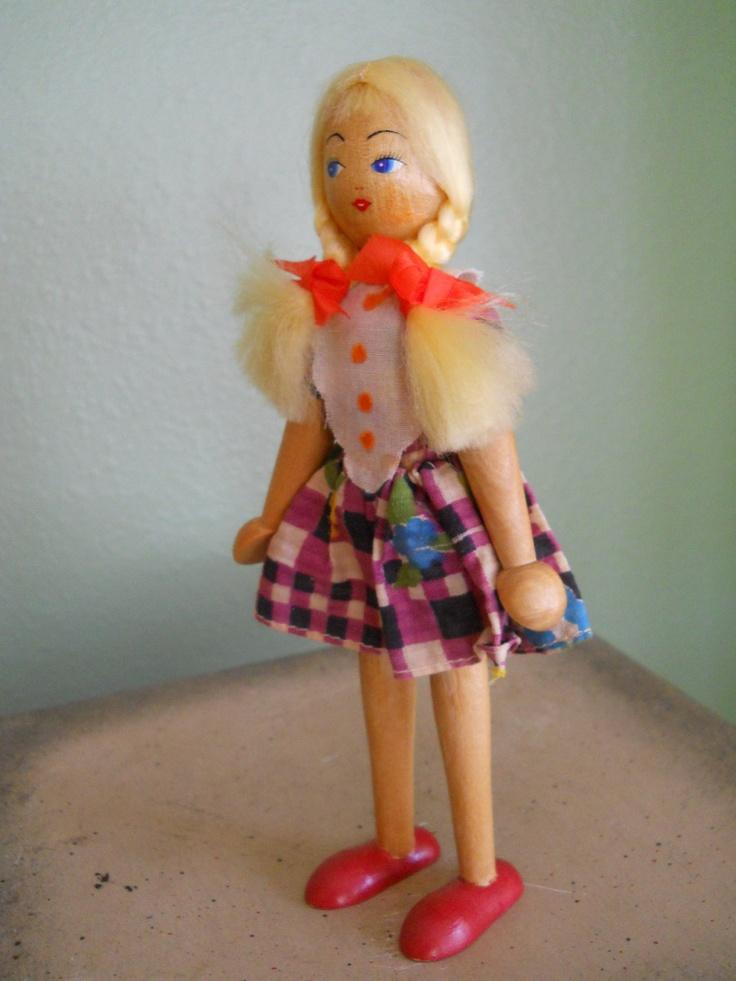 50 best Vintage Clothespin Dolls & Polish Wooden Dolls ...
