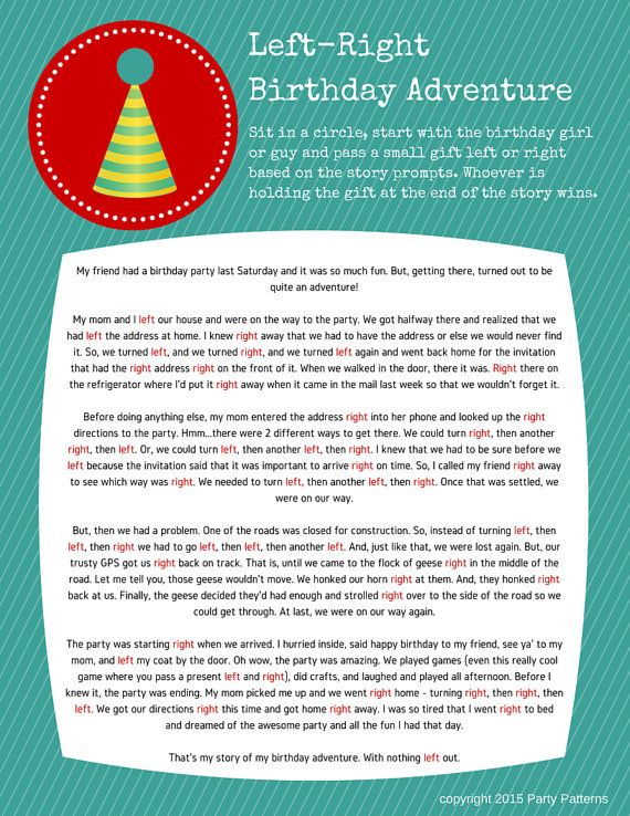 Pass the Present Birthday Party Game Instant Download in ...