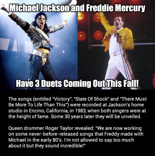 Michael Jackson and Freddie Mercury together…if this is true...oh please let this be true.