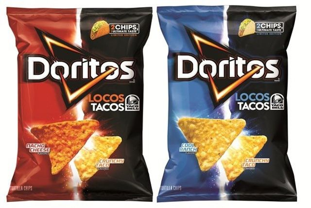 Self-Referential Doritos Locos Tacos Chips, Based on Taco Bell Tacos
