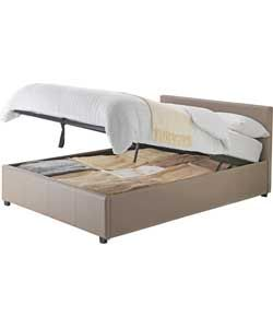 san diego double ottoman bed frame latte - Bed Frames San Diego