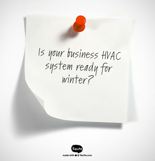 Don't put off getting your furnace ready for the upcoming winter.