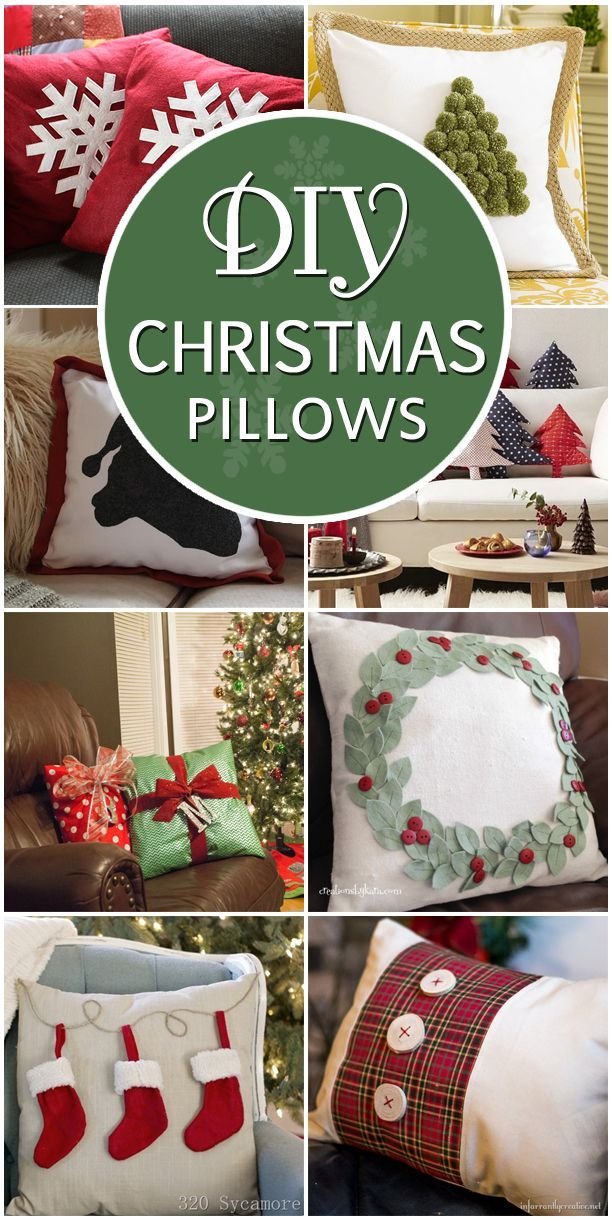 Here are some ideas for Christmas pillows which will add a holiday cheer to your home no matter what your interior style is.