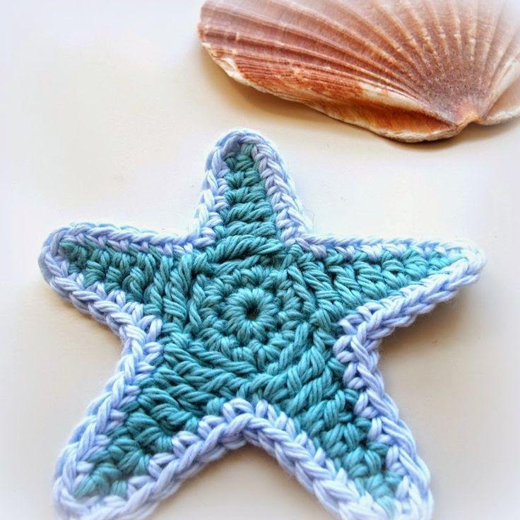 MICROCKNIT CREATIONS: STARFISH Crochet FREE Pattern ༺✿ƬⱤღ  https://www.pinterest.com/teretegui/✿༻