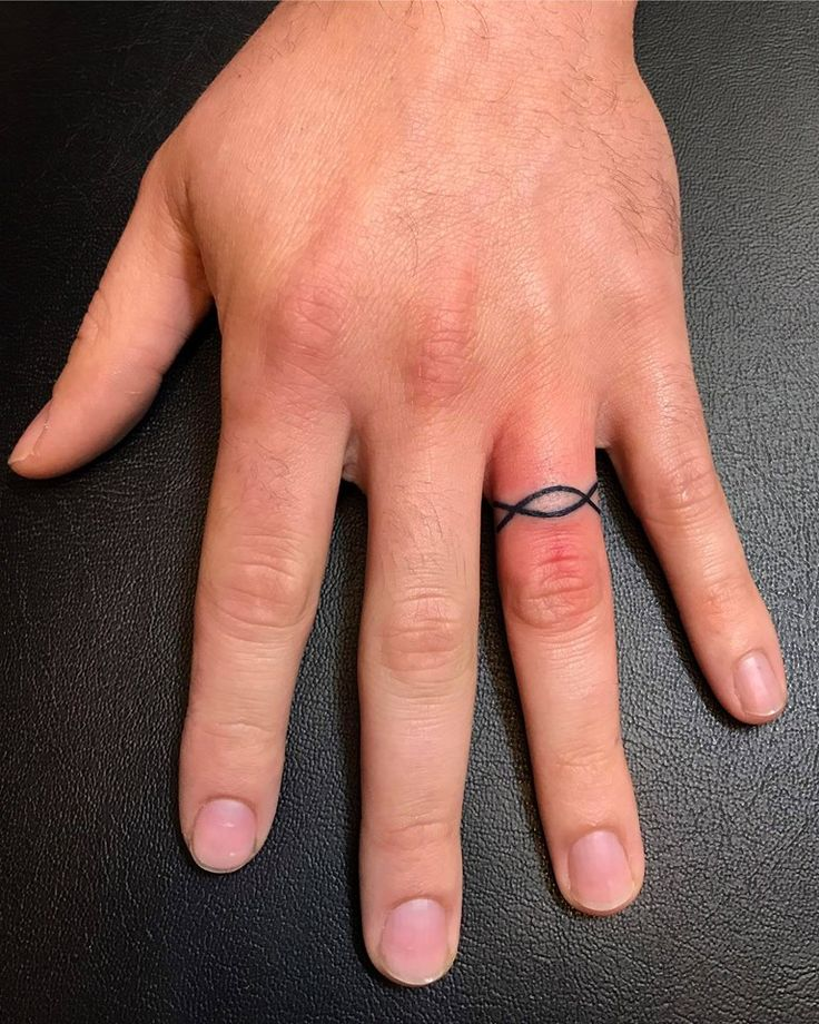 Infinity Finger Tattoo