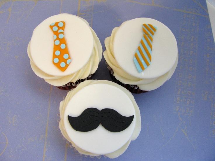 Little Man  Necktie Fondant  Cupcake Toppers.