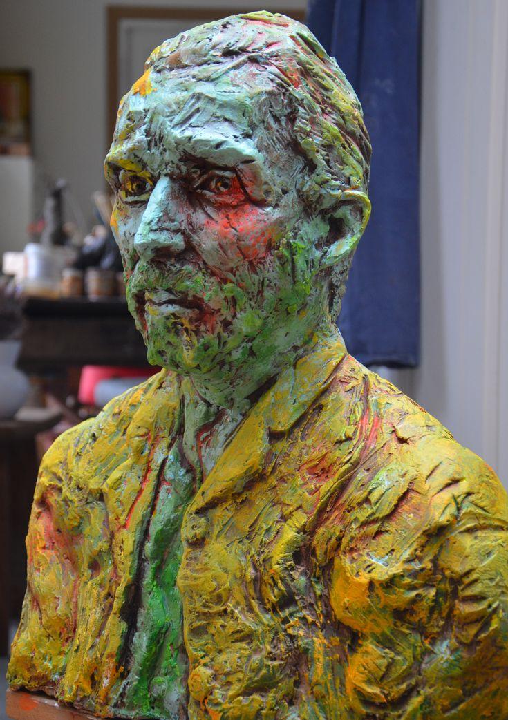 I painted Van Gogh sculpture made by artist Ien Sluyters. http://www.iensluyters.nl/meester-van-toen-zoekt-meester-van-nu/