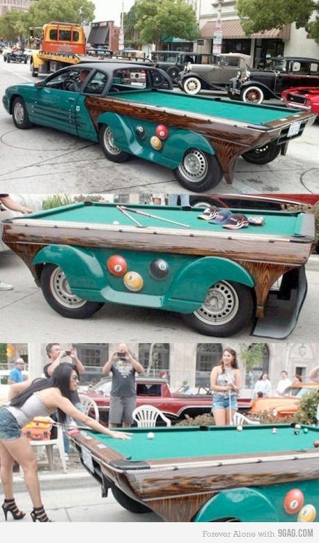 pool table/car