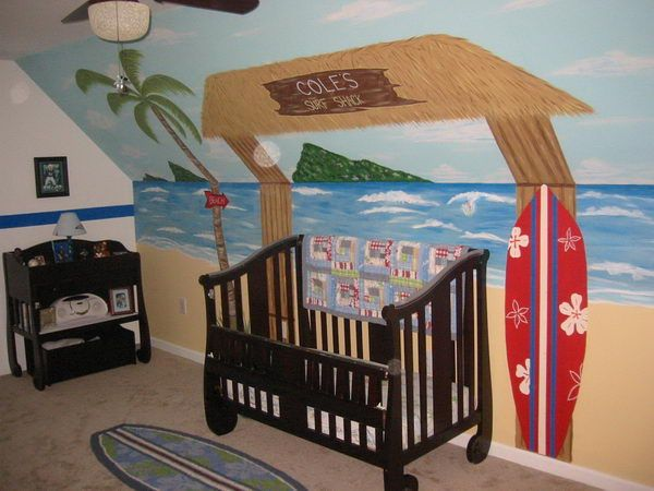 baby beach themed room love this for my next baby