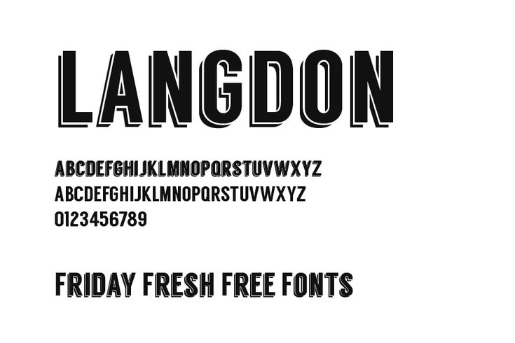Friday Fresh Free Fonts Langdon by Steven Bonner