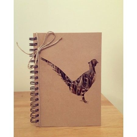 Pheasant Feather Silhouette Notebook - £12