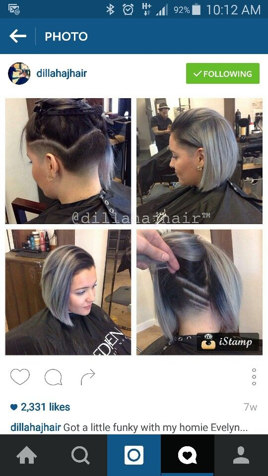 Hair! Undercut ❤ the colour