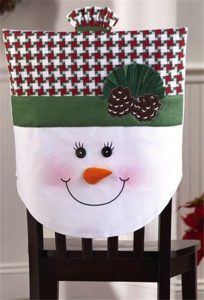 2013 Christmas chair cover set, Christmas Mrs. snowman chair cover, Christmas home decor