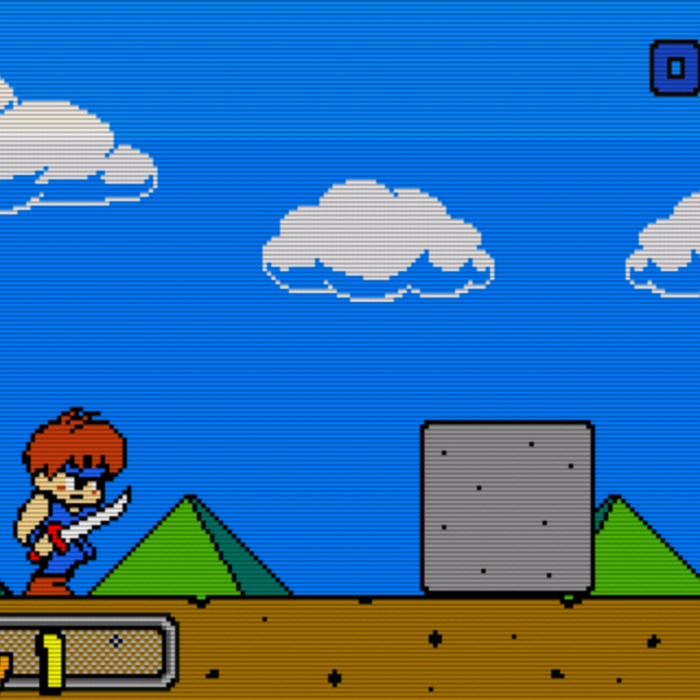 Blade Dash - great side scrolling action game with an awesome 90's art style