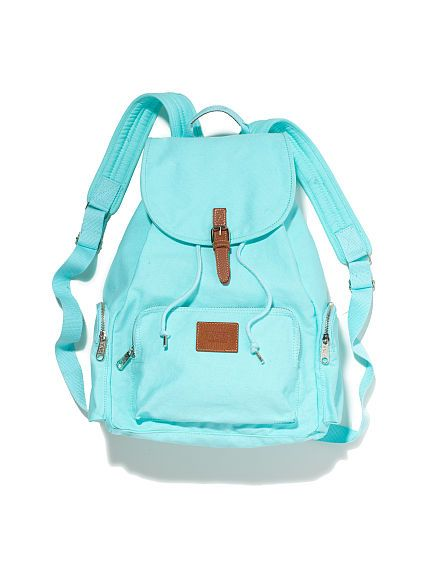 Backpack - PINK - Victoria's Secret - tiffany blue backpack <3 I love this.