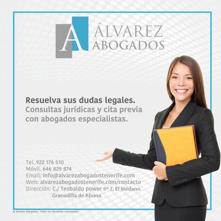 Resuelva sus dudas legales al instante. Consultas jurídicas y cita previa online. https://alvarezabogadostenerife.com/?p=5430 #SomosAbogados