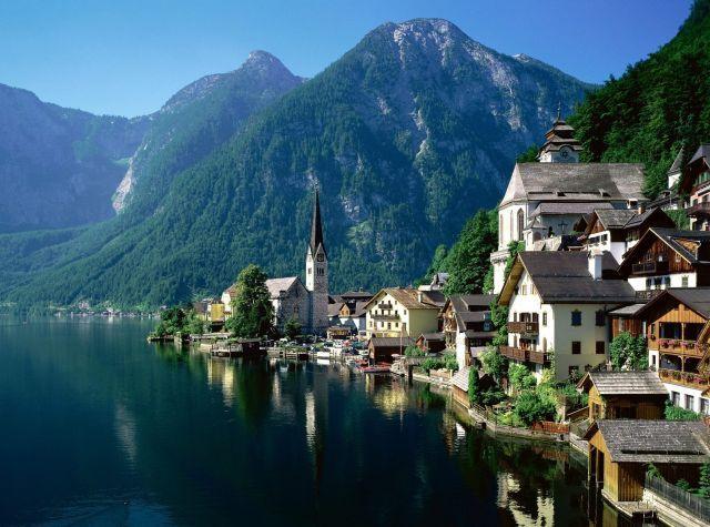 Hallstatt, Austria... looks like a lovely place for a spot of coffee...  #JetsetterCurator