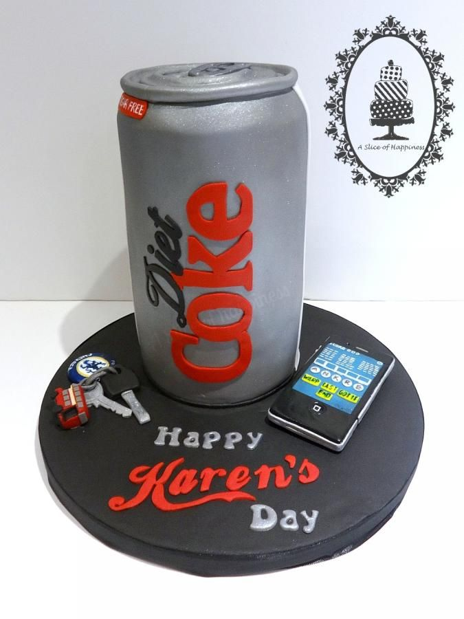 Diet Coke Can Cake - Cake by Angela