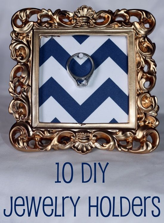 10 DIY Jewelry Holders—I need one like this for my kitchen when I do dishes and clean.