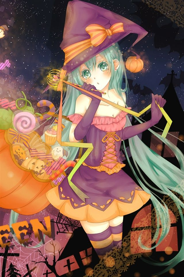 Halloween Cute Anime Girl iPhone 5 Wallpapers is a