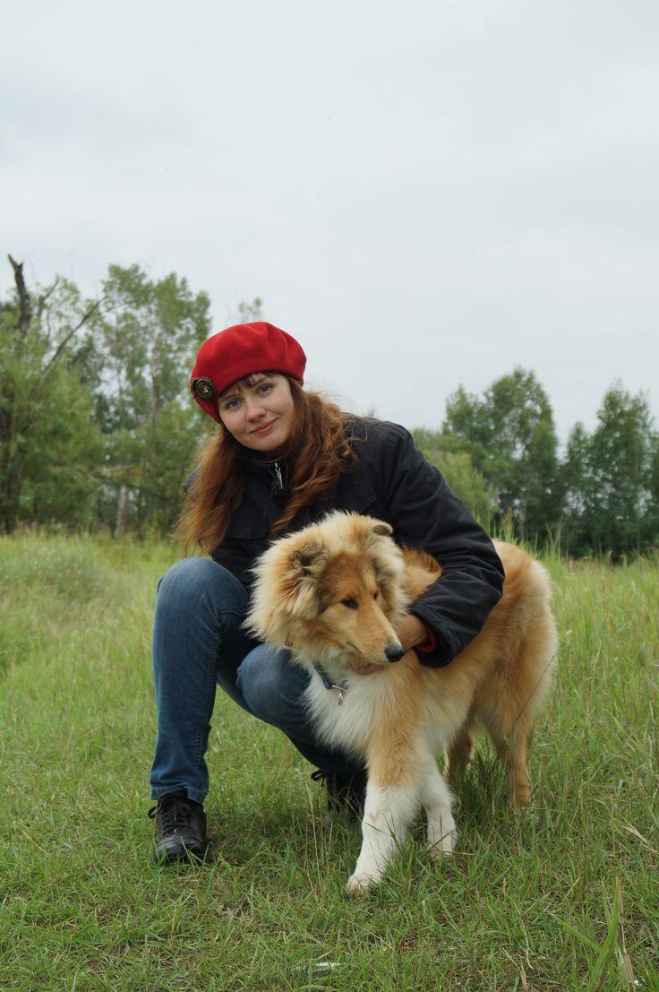 Я и мой любимый рыжик!:) Колли.