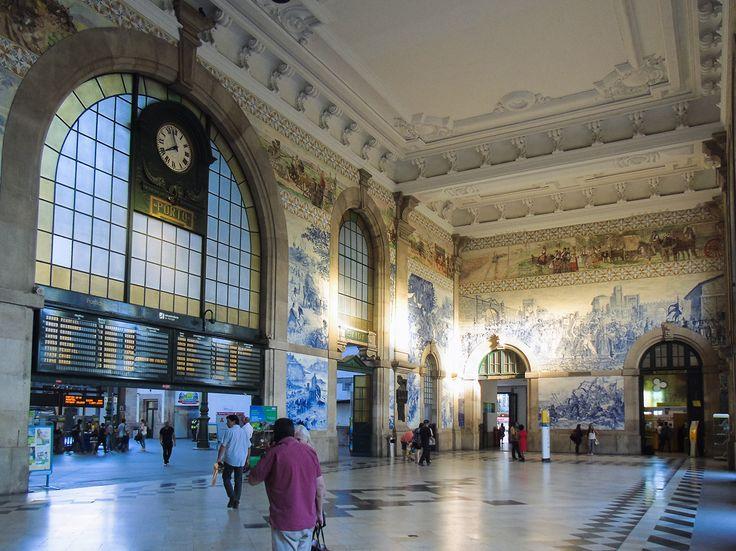 Jorge Colaço | Porto | Estação Ferroviária de / Railway station of São Bento | 1915 [© ] #Azulejo #AzulejoDoMês #AzulejoOfTheMonth #JorgeColaço #Porto #Oporto