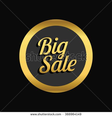 Big sale promo department store. Big sale label. Vector illustration. - stock vector