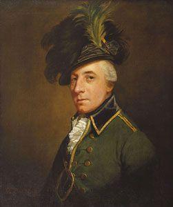 George Hanger (1751-1824) in his British Legion officer's uniform. Portrait by Thomas Beach (ca 1782-1792)