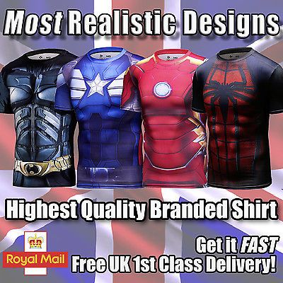 Marvel #avengers gym top base #layer superhero compression #cycling short t-shirt,  View more on the LINK: http://www.zeppy.io/product/gb/2/262643110354/