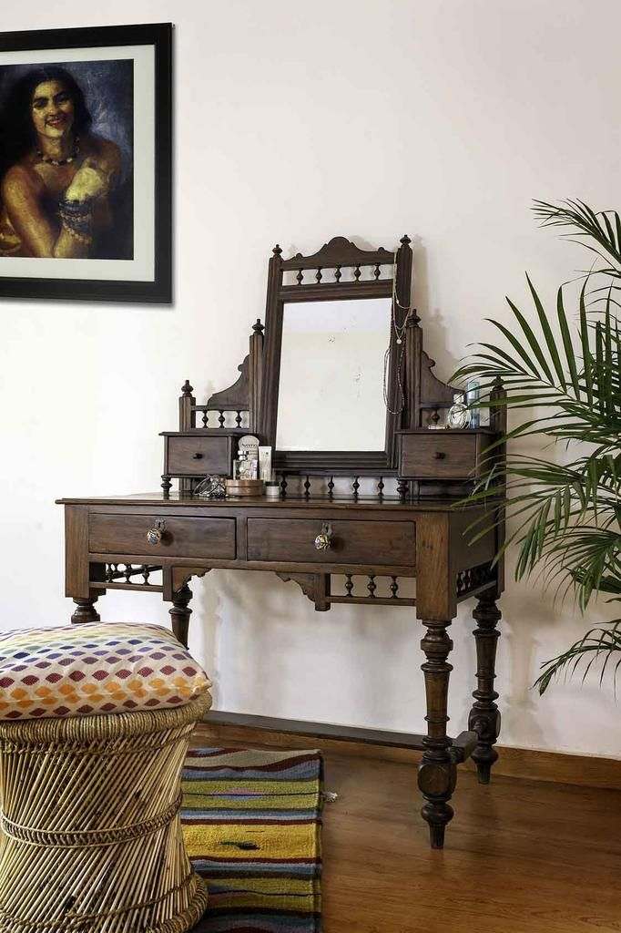 Teakwood Antique Dressing Table Decor Ideas In 2019 Indian