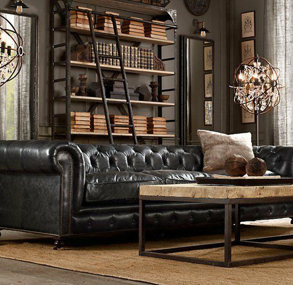 Die besten 25+ Leder wohnzimmer Ideen auf Pinterest Lederne - retro mobel wohnzimmer