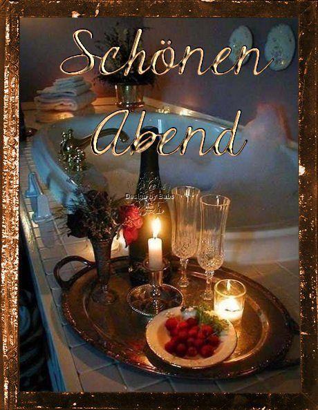 Pin von Sonnja Schau auf Abend Grüße S. | Romantisches