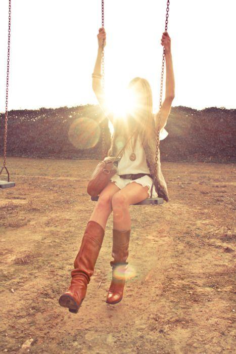 swinging and sunshine. favorite things.