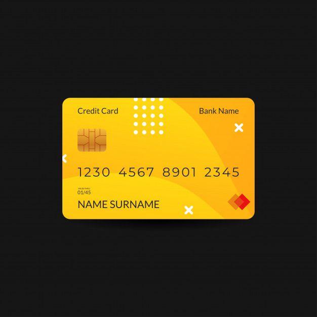 Credit Card Design Templates With Blue Color Design De Cartao De Credito Design De Cartao Modelos De Design