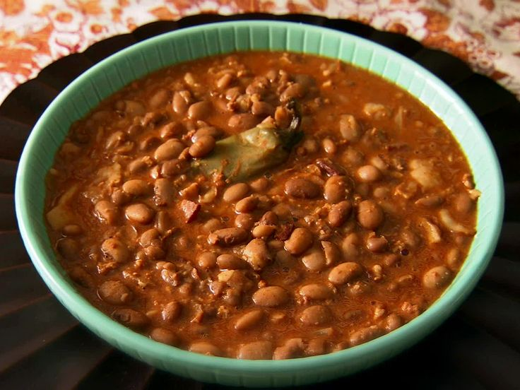 Cowboy Beans from FoodNetwork.com.  These were a success at our Easter potluck.  I didnt have the hamhock so I improvised by adding chopped ham.Still delicious.