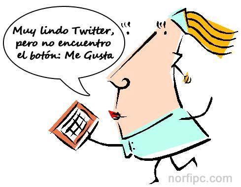Muy lindo Twitter, pero no acabo de encontrar el botón: Me Gusta