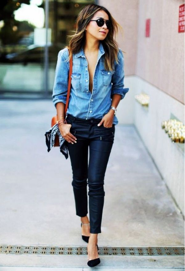 25+ best ideas about Denim shirt outfits on Pinterest ...