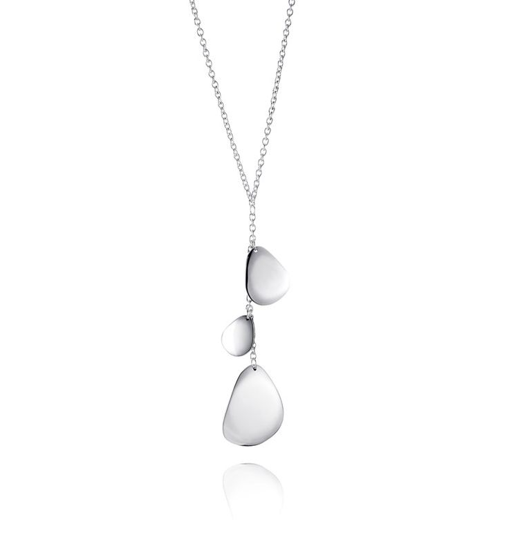 Rose Petal Fall - Silver - Necklaces - Efva Attling