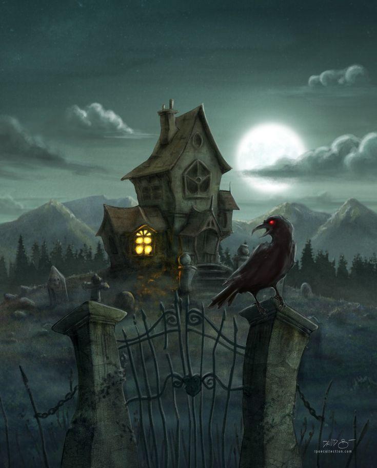 El Cuervo de Edgar Allan Poe. Ilustración de David Garcia para iPoe Collection